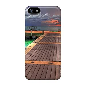 Awesome GoldenArea Defender PC Hard For SamSung Galaxy S5 Phone Case Cover - Dock At Sunset