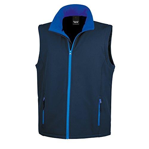 Result Homme bleu Roi Core Veste Noir Sans Manches Softshell vwvrUq1S