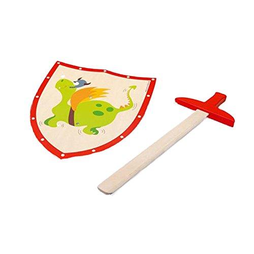 Scratch - 276182502 - Epée et Bouclier - Dragon en Vert - Taille S 100.6182502
