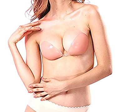 Backless Strapless Silicone Self Adhesive Sticky Push-up Invisible Bra