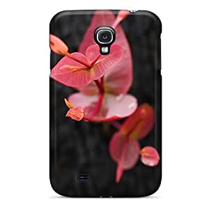 High Grade Cynthaskey Flexible Tpu Case For Galaxy S4 - Flower