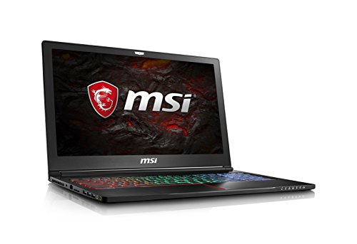 "MSI GS63VR Stealth Pro-230 15.6"" Ultra Thin and Light Gaming Laptop Intel Core i7-7700HQ GTX 1060 16GB 256GB NVMe SSD + 2TB VR Ready - Metal Chassis"