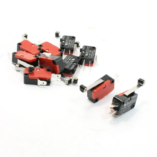 Uxcell a13082200ux0260 10 Piece Mini Micro Limit Switch Long Hinge Roller Lever Arm SPDT Snap Action LOT
