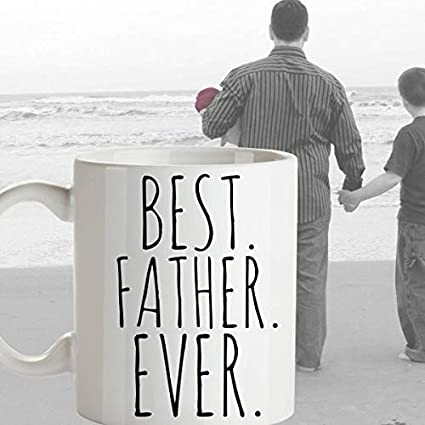 Amazon com: BEST FATHER EVER Coffee Mug Fathers Day Gift