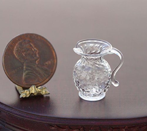 Dollhouse Miniature Artisan Pressed Clear Glass Creamer Jug by Phil Grenyer Clear Pressed Glass Creamer