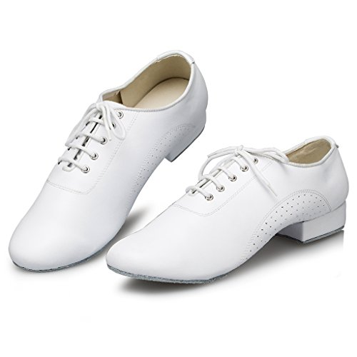 M108 Tango Doris Leather Men's Social Shoes Salsa White173 Dance Latin Ballroom dZxZrX