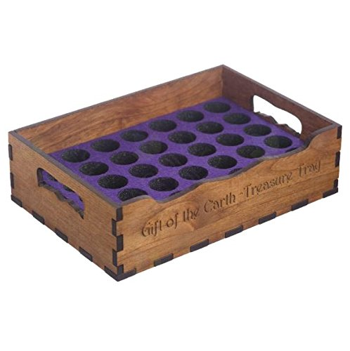 Urban Forest Essential Oil Small Wooden Tray Storage - Secure, Organized Storage for Easy Access To Your Bottles - Holds 36 Vials Each