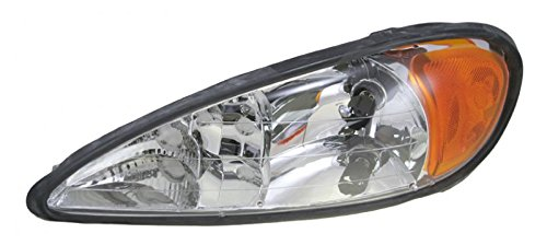Headlight Headlamp Driver Side Left LH for 99-05 Pontiac Grand (Grand Am Headlight Lh Driver)