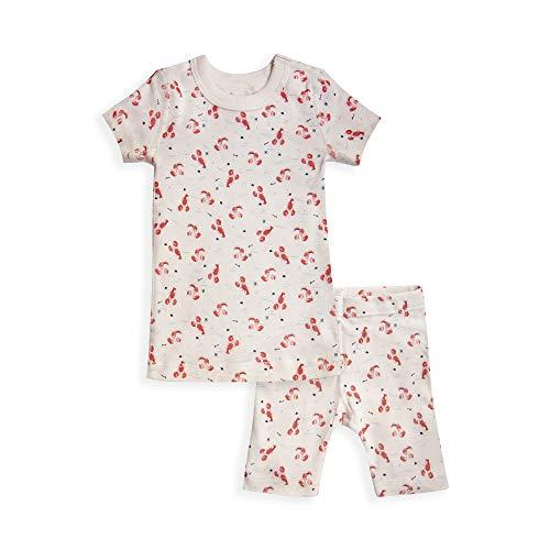 - Skylar Luna Boys Short Sleeves Organic Cotton Pajamas- Sizes 10- Lobsters