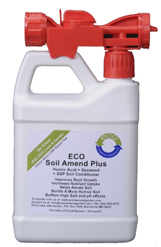 ECO Soil Amend Plus Natural Liquid Seaweed Humic Acid Aerator Ready To Use Quart