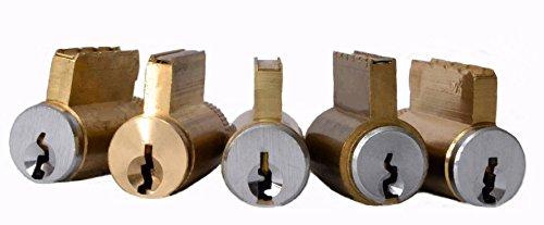 HiChallenge Practice Lock Assortment Set of 5 Commercial KIK Style Cylinders - Practice Lock Cylinder