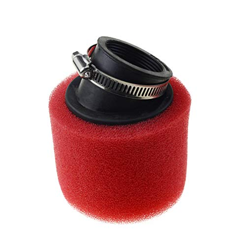 WOOSTAR 42mm Air Filter Foam Sponge Cleaner for 125 Moped Scooter 140cc 200cc CRF KLX Pit Dirt Bike (red)