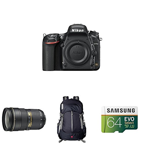 Nikon D750 FX-Format DSLR Camera with 24-70mm Lens by Nikon
