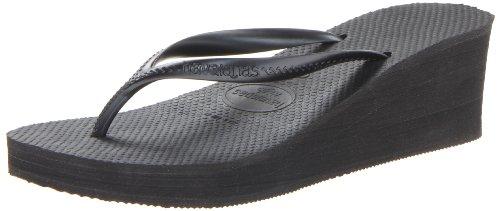 Havaianas Women's High Fashion Sandal, Black, 36 BR