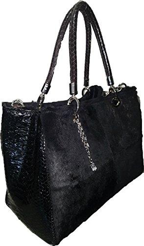 FONTEVIVO FASHIONS , Sac pour femme à porter à l'épaule noir noir