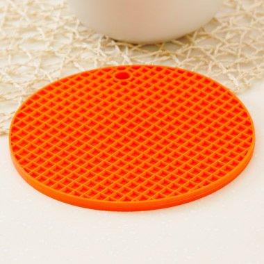 QWERWHH 17 cm Pads, Pads, Pads, Mat, Kieselgel, Wasserdichte Tabelle Mat Wärmedämmung Mat (4 Stück), Orange
