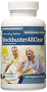 Blockbuster AllClear (80,000 IU of Serrapeptase per serving, by any measure, the best and most powerful enzyme formula available)