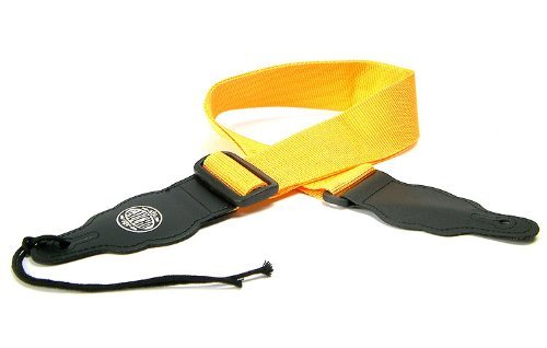 Yellow Guitar Strap: Polypro/Nylon/Webbing Electric/Acoustic/Electro/Bass (1.4m) Gaucho GST-50-YE