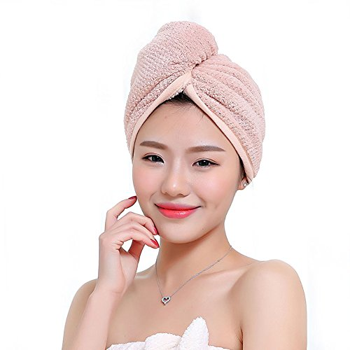 Microfiber Hair Turban Quickly Dry Hair Hat Wrapped Towel Bathing Cute Cap TS