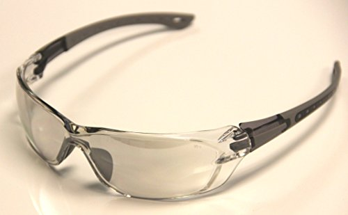 Auras S1804z ANSI Z87+ Indoor-Outdoor Lenses Safety Glasses 4 (Grey Tint Safety Glasses)