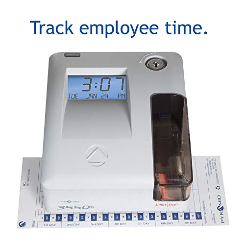 Pyramid 3550ss SmartSite Time Clock and Document Stamp - Made in USA by Pyramid Time Systems (Image #1)