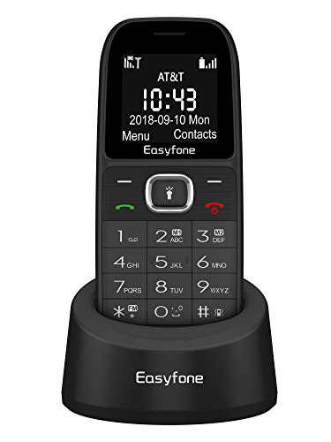 Easyfone Prime A3 Big Button Senior Unlocked Cell Phone, Easy-to-Use Big Size Big Volume Cell Phone for Elderly with Cradle Charger