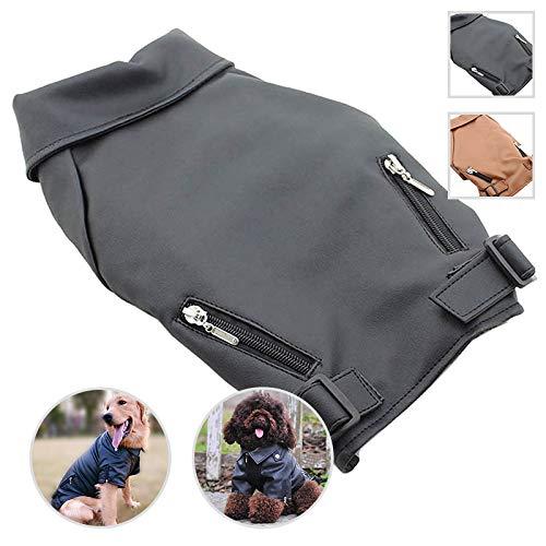 Cheap DLC-07CB Dog Leather Coat Jacket (XXL, Black)