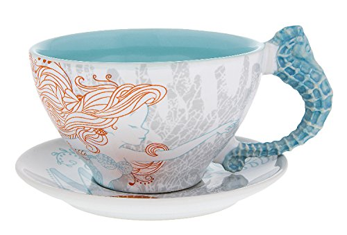 Park Saucer - Disney Parks Little Mermaid Ariel Nautical Teacup & Saucer