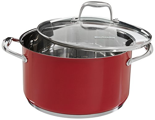 KitchenAid KCS60LCER Stainless Steel 6.0-Quart Low Casserole with Lid Cookware - Empire Red by KitchenAid (Image #1)