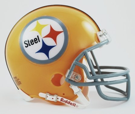 Riddell Pittsburgh Steelers Authentic Mini Helmet (Authentic Riddell Mini Helmet)