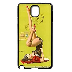Upside Down Musical Pin Up Girl 2D case for Samsung Galaxy Note 3 Best Durable case ATR012170
