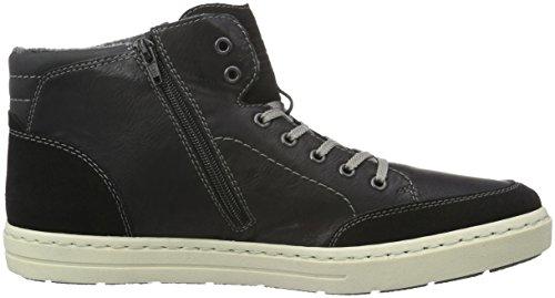 Rieker 30912, Zapatillas Altas para Hombre, Negro (Schwarz/Schwarz/Schwarz / 02), 46 EU