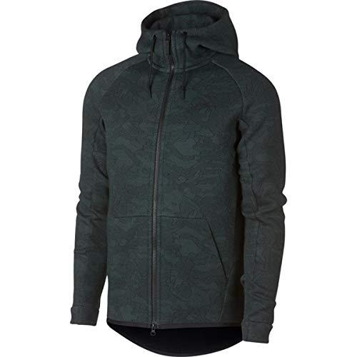 Nike Sportswear Tech Fleece Full Zip Hoodie (XL, Vintage Green/Black)