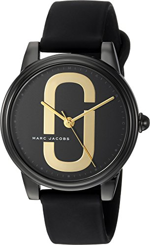 Marc Jacobs Women's 'Corie' Quartz Stainless Steel and Silicone Casual Watch, Color:Black (Model: MJ1582) (Women Watches Marc Black Jacobs)