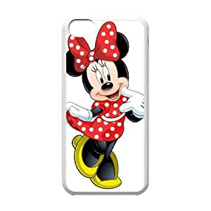 iPhone 5C Cell Phone Case White Disney Mickey Mouse Minnie Mouse AFT844296