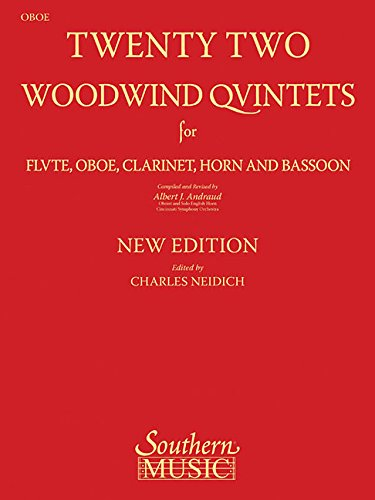 22 Woodwind Quintets - New Edition: Oboe Part