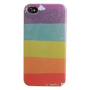 CECT STOCK Modelo del arco iris clásico con el caso de la fluorescencia para el iPhone 4/4S