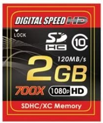 Memory Card Class 10 Digital Speed 2GB 700X Professional High Speed 120MB//s Error Free SD