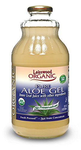 Lakewood Organic Pure Aloe Vera Gel, 32 Ounce (Pack of 6)
