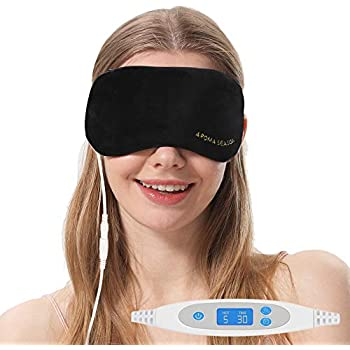 Aroma Season USB Steam Eye Mask to Relieve Eye Stress, Warm Therapeutic Treatment for Dry Eye, Blepharitis, Stye (Black)