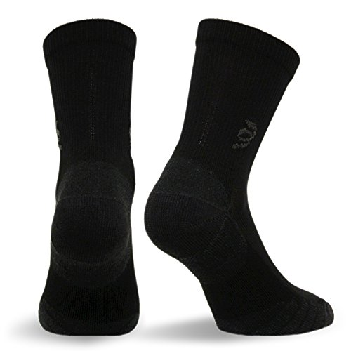 ress and Travel Crew Compression Socks TSC, Black, Large ()