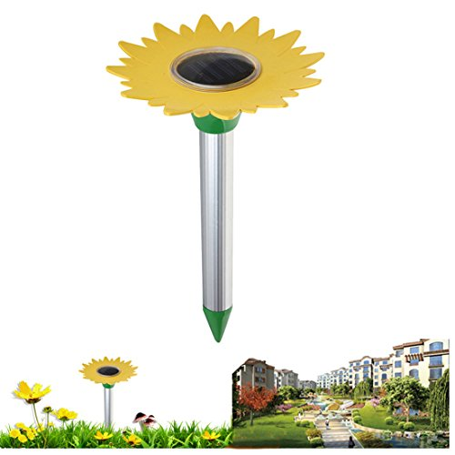 Solar Powered Ultrasonic Pest Repeller Mole Repeller Rodent/Vole/Shrew/Gopher, Rats,Snakes,Pests, Mice Spike Hi (Yellow Rat Snake)