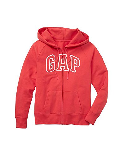 Gap Womens Fleece Arch Logo Full Zip Hoodie  Large  Apple Red