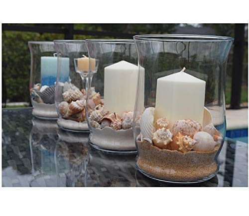 Amazon Glass Hurricane Vase Candle Holder Decorated With Sand