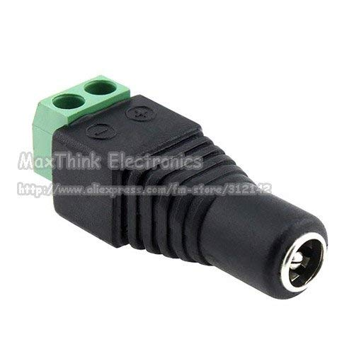 Gimax 2.1mm CCTV camera DC Power Female Jack Connector Plug for CCTV Camera 500pcs, by GIMAX (Image #2)