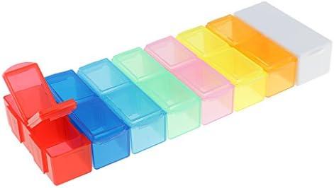baosity 7 días Caja con separador de Medicamentos Viaje Pastillero: Amazon.es: Belleza