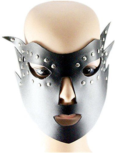 Qiu ping Men's & Women's New Punk Leather Masks Fashion Jewelry Masks by Qiu ping