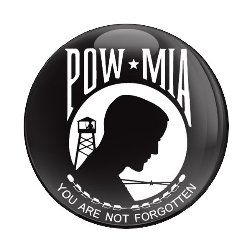 GoBadges Flag POW MIA 3 Magnetic Grill Badge//UV Stable /& Weather-Proof//Works Grill Badge Holder