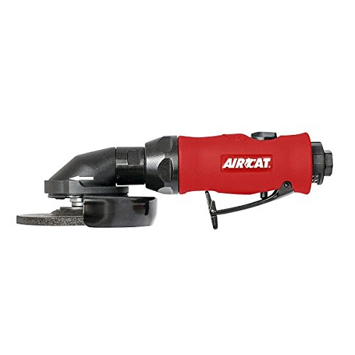 "AIRCAT 6340 4 1/2"" One-Handed Grinder, Small, Red/Black"