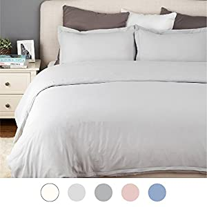 Duvet Cover Set with Zipper Closure-Wrinkled Vintage Style Silver Grey,King (104